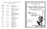 2005 Fall - Winter Band Concert: Music From Around the World - Program
