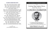 Spring 2010 - A Lincoln Celebration - Program
