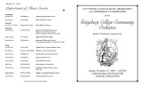 Fall 2004 - Gettysburg College Community Orchestra - Program