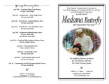 2009 Spring - Madame Butterfly - Program
