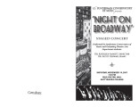 2007 Fall - Night on Broadway - Program