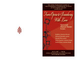 2007 Spring - From Opera to Broadway, With Love - Program