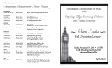 2005 Fall - Visit to London Fall Orchesta Concert - Program
