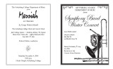2004 Fall - Symphony Band Winter Concert - Program
